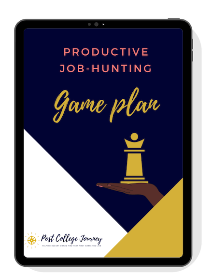 Productive Job-hunting game plan 3 page layout (transparent)