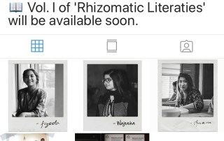 A screenshot of an instagram page with three black and white pictures of women.