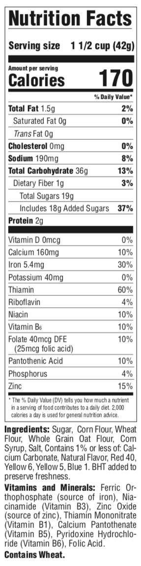 Wheaties Nutrition Facts : wheaties, nutrition, facts, Malt-o-Meal®, Cereals:, Flavor, Varieties, Nutrition, Consumer, Brands