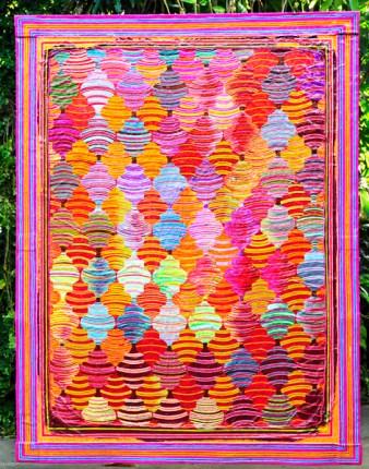 """""""Roda Pião"""", 2011 acrílica sobre lona de algodão 220 x 170"""