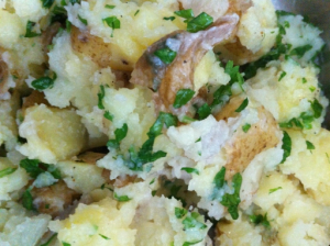 Smashed chaos potatoes