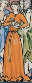 Woman in cote, 1200's