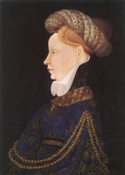 "A bourrelet, or ""padded roll"" hat, was fashionable in the 1300's and 1400's. These hats were made principally of rolled fabric."