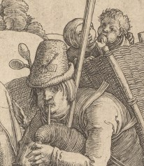 Beggar with a hat wearing spoons, 1520.