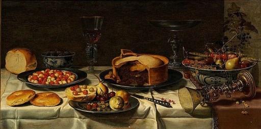 Floris Gerritsz van Schooten: Breakfast piece, 1600s