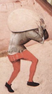 Workman shown fastening of the hose to the short doublet by means of points or ties. c. 1475