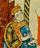 The Emperor wearing a little hat, c. 1115