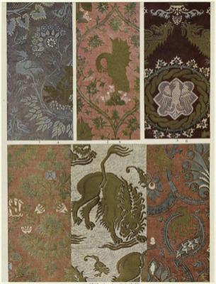 1300's Italian silk damasks