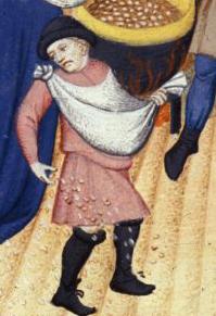 Man sewing c. 1413