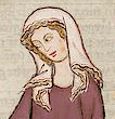 Woman in veil first half of 1300's