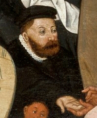 Bearded man wearing a black hat, 1566