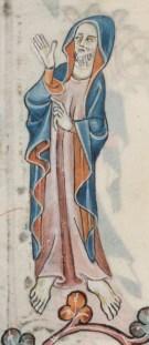 Man wearing a cloak or mantle, 1325-1340