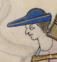 Travler wearing a bycocket, c. 1325-1340
