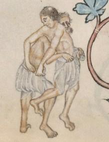 Men in braies, early 1300's