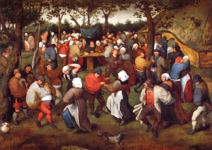 The Wedding Dance, by Marten van Cleve, date unknown (1500's)