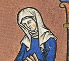 Widows would wear wimple and veil From the Morgan Bible, c. 1250