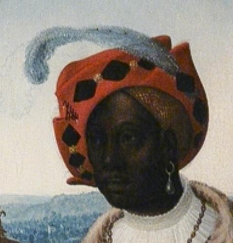 Black King a beautiful red beret/bonnet