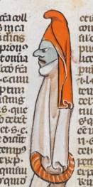 Weird figure with a hood, c. 1300-1330
