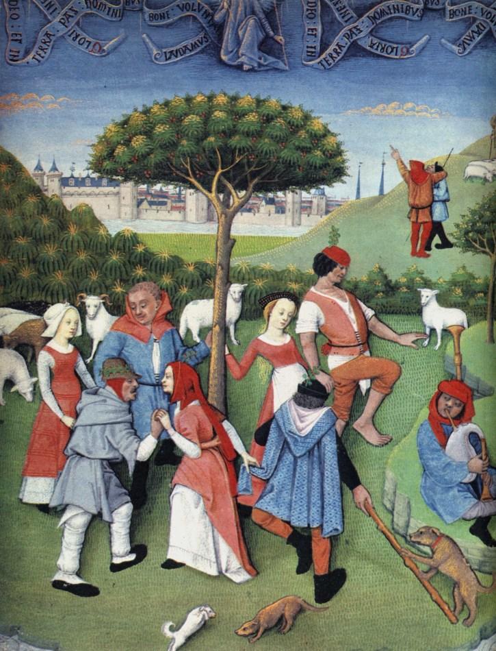 Dancing peasants 1400's