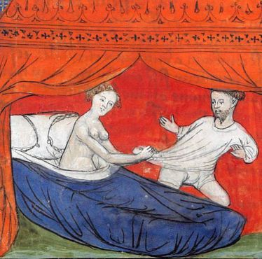 seduction of Lancelot Le livre de Lancelot du Lac France ca. 1401-1425 Paris Bibliothèque de l'Arsenal 3480 p. 33