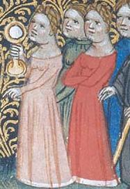 Women wearing cotes, c. 1390