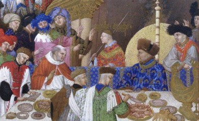 A mess of hairstyles and hats, 1416