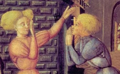 Two italian men with wild hair in armor, c. 1450