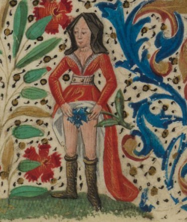 Paris, Bibliothèque de l'Ecole des Beaux-Arts, Ms. 0482, detail of f.60v. Book of Hours. 15th century
