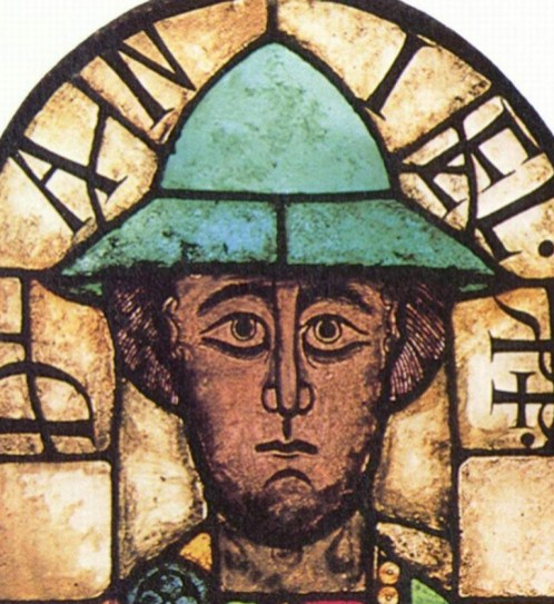 man with green hat, c. 1065