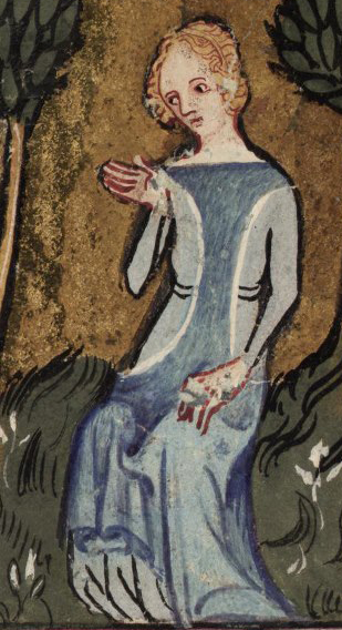 Roman de la Rose - 1348 MS. Selden Supra 57. - fol. 150v (found on Bodleian Image Library - Luna)