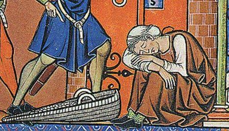 Woman wearing chemise or cote, a gardecorp and St. Birgitta's Huva mid-1240s