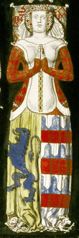Effigies and Brasses: Hugues de Roucy A (1395). St Yved's Church, Braine, Aisne, France
