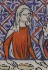 Woman in a simple veil, Yates Thompson 13 c. 1325-1350