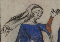 Veils and gorgets, Yates Thompson 13 c. 1325-1350
