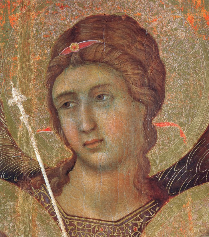 Madonna And Child On A Throne (Front Side Fragment) By Duccio Date: 1308-1311