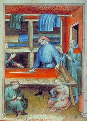 L'apprentie couturière Albucasis, Tacuinum sanitatis, Italie (Milan), vers 1390-1400 Paris, BnF, département des Manuscrits, NAL 1673, fol. 94