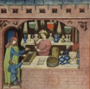 Raisins (fol. 54), Tacuinum Sanitatis (BNF Latin 9333), 1400's