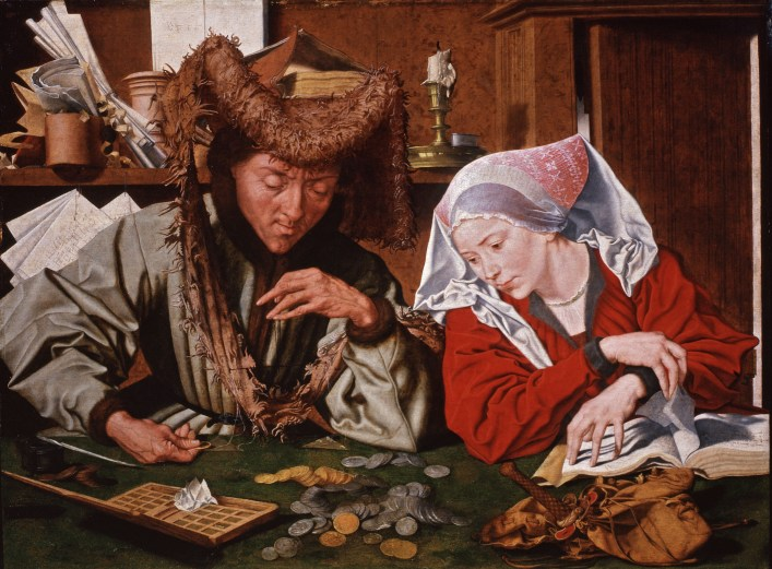 Marinus van Reymerswaele, Il cambiavalute e sua moglie, 1540