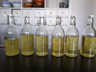 The finished experiments ready for tasting.