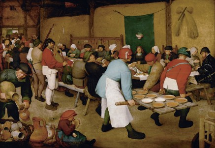 "Pieter Bruegel the Elder - ""Peasant Wedding"", 1566-69."