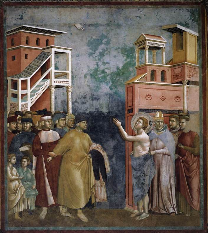 St. Francis Renounces All Worldly Goods by Giotto, 1297-1299, Italy