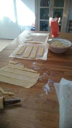Coconut short bread in the making - fedtebrød