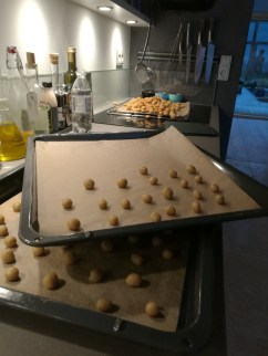 Peppernuts waiting to be baked