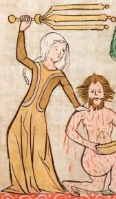 Lady in yellow surcoat, c. 1360
