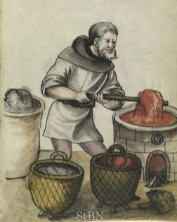 Dyer working on red cloth, 1529