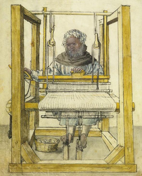 Linen weaver 1513 From Amb. 279.2° Folio 7 verso (Landauer I) - hausbuecher.nuernberg.de