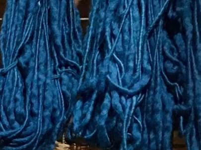Woad blue yarn