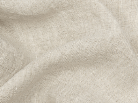Washed unbleached linen