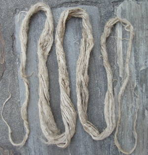 Yarn made from nettle