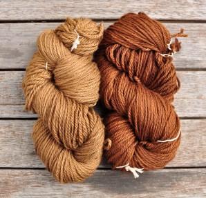 Walnut Hull dyed yarn, naturally dyed